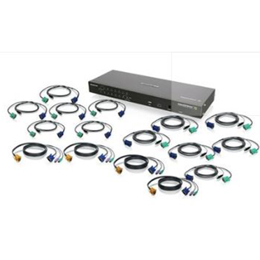 IOGEAR16-Port IP Based KVM Kit with PS/2 and USB KVM Cables (TAA)